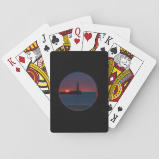 Sunrise at Roker Lighthouse-England Playing Cards