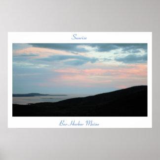 Sunrise Bar Harbor Maine Poster