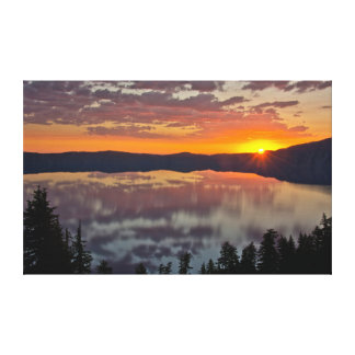 Sunrise, Crater Lake National Park, Oregon, USA Canvas Print