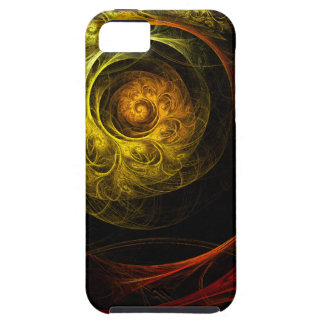Sunrise Floral Red Abstract Art iPhone 5 iPhone 5 Cover