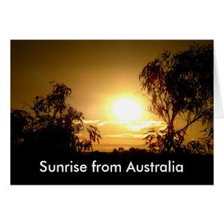 Sunrise from Australia Card