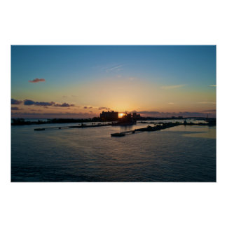 Sunrise in Nassau, Bahamas Poster