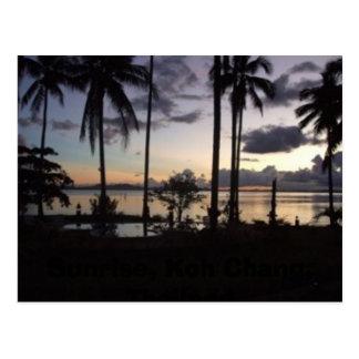 Sunrise, Koh Chang, Thailand Postcard