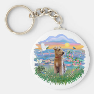 Sunrise Lilies - Airedale Key Ring