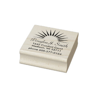 SUNRISE logo gold silver II + your Backgr. & ideas Rubber Stamp