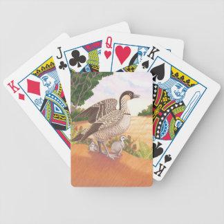 Sunrise Nene (Hawaiian Goose) Bicycle Playing Cards