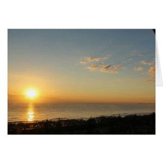 Sunrise on Broad Beach Card