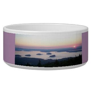 Sunrise on Cadillac Mountain Large Bowl Dog Bowls
