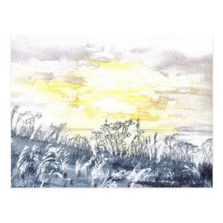 Sunrise Over Duporth Postcard