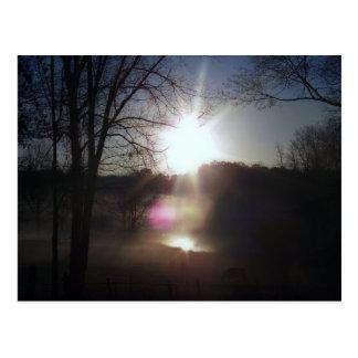 Sunrise Over The Lake Postcard