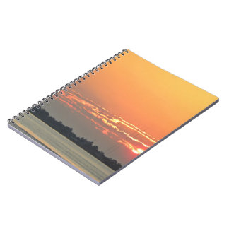 Sunrise over the river notebooks