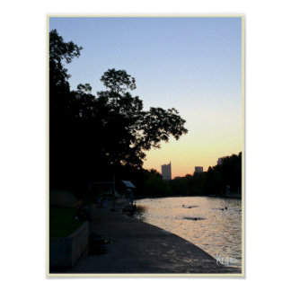 """Sunrise Over Water"" Barton Springs Austin Poster"