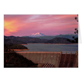 Sunset and Mt. Shasta Notecard Note Card
