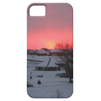 Sunset and Village iPhone 5 Cases