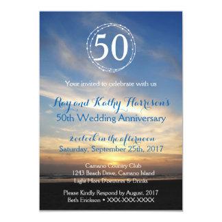 Sunset Anniversary Inviation Card