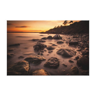 Sunset at Alby Canvas Print