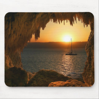 Sunset at sea mouse pad