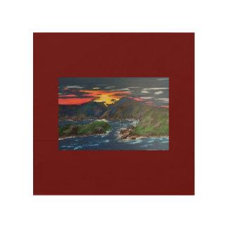 Sunset at Smith Mountain Lake Wood Canvas