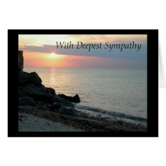 Sunset at the Beach Sympathy Greeting Card