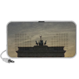 Sunset at the Brandenburg Gate, Berlin Notebook Speakers