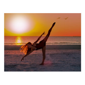 Sunset Ballet Postcard