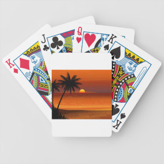 sunset beach oahu hawaii north shore postcard bicycle playing cards
