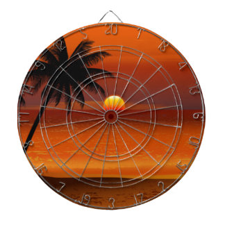 sunset beach oahu hawaii north shore postcard dartboard