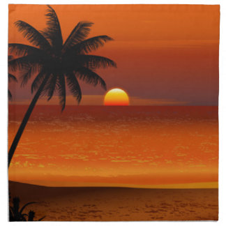 sunset beach oahu hawaii north shore postcard napkin