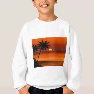 sunset beach oahu hawaii north shore postcard sweatshirt