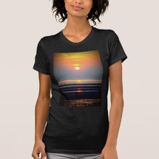 Sunset Beach Scene, Crosby, Liverpool UK T Shirt