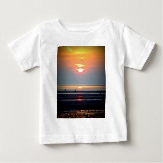Sunset Beach Scene, Crosby, Liverpool UK Tshirts