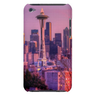 Sunset behind Seattle skyline from Kerry Park. iPod Touch Case-Mate Case