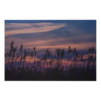Sunset - blue sky wood canvases