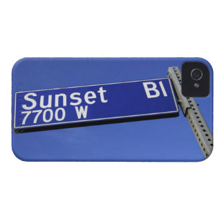 Sunset Boulevard sign against a blue sky iPhone 4 Case-Mate Cases