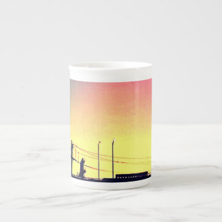 sunset bridge tea cup