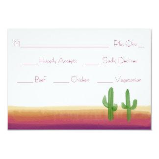 Sunset Cactus Watercolor Response Card