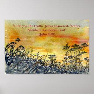 'Sunset (Christian)' Poster