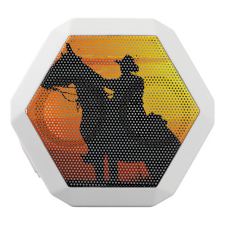 Sunset cowboy-Cowboy-sunshine-western-country White Bluetooth Speaker