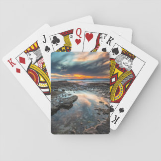 Sunset from the tide pools playing cards