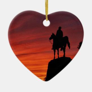 Sunset - Gettysburg National Park - Meade Memorial Christmas Ornament