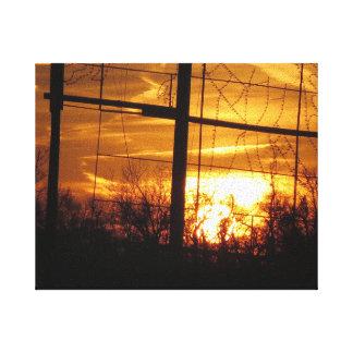Sunset Golden - Cherry Hill NJ USA Fine Decoration Canvas Print