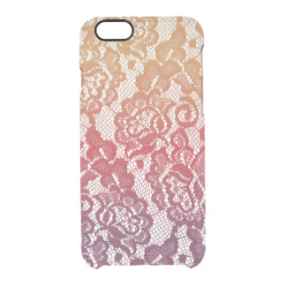 Sunset Gradient Lace Clear iPhone 6/6S Case