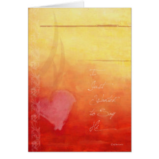"""Sunset Hearts """"Hello"""" greeting card"""