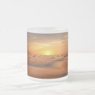 Sunset in Desert Frosted Glass Coffee Mug
