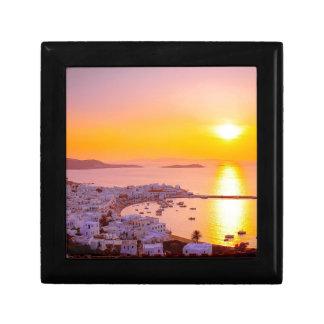 Sunset in Mykonos, Greece Gift Box