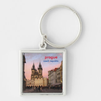 Sunset In Old Town Square - Prague, Czech Republic Key Ring