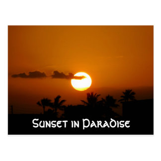 Sunset in Paradise Postcard