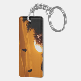 Sunset in the Everglades Key Ring
