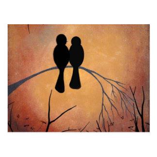 Sunset Lovebirds Postcard