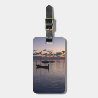 Sunset Maldives Island Blue Ocean Gondolas Custom Luggage Tag